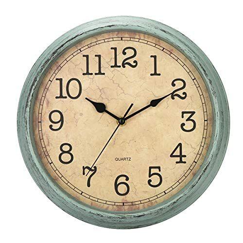 Hylanda 12 Inch Vintage Retro Wall Clock Silent Non Ticking