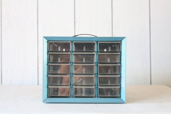 Vintage Mechanics Tool Box // Industrial Storage by genrestoration, $26.00