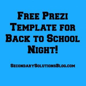 Prezi for back to school night back to school for teachers