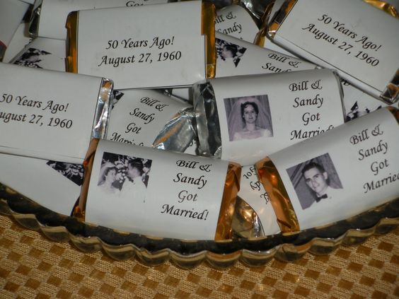 60th Wedding Anniversary Gifts For Parents: Homemade 50th-anniversary Centerpieces