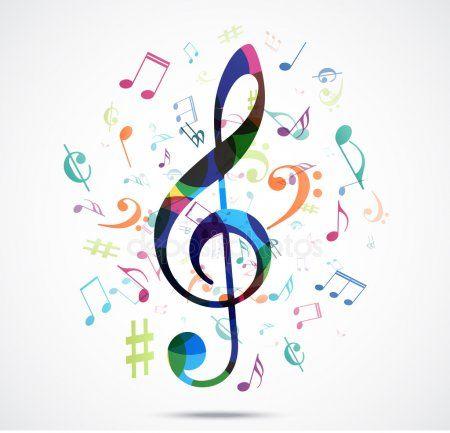 Notas musicales colores abstractos Vectores De Stock Sin Royalties Gratis