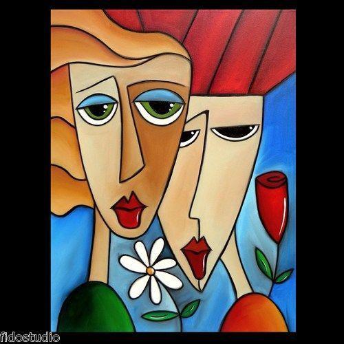 Resultado De Imagen Para Rostros Abstractos Faciles Retrato Abstrato Ideias Para Pintura Arte Abstrata Colorida