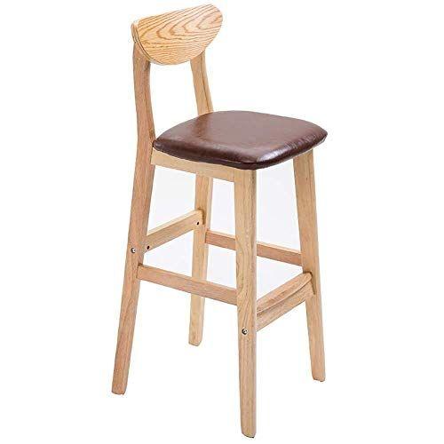 Solid Wood High Chair Creative Bar Chair European Fashion Bar