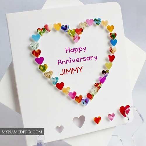 Name Write Beautiful Heart Design Anniversary Card Create My Nam Wedding Anniversary Cards Happy Wedding Anniversary Cards Wedding Anniversary Greeting Cards