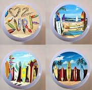 At The Beach Sandy Surf Shore Drawer Pulls Knobs