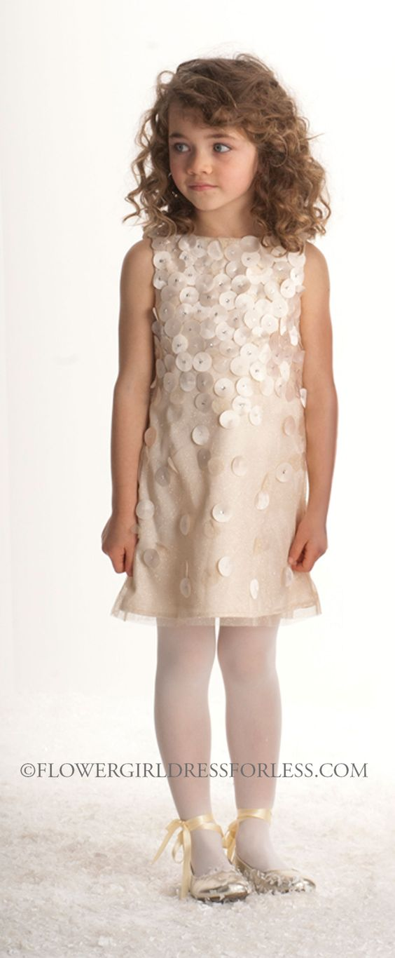 Biscotti Designer Girls Dress Style 202- Gold Sleeveless Glitter Tulle Dress $98.00