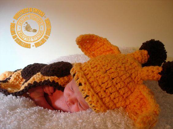 Crochet Baby Giraffe Set Giraffe Cuddle Cape by SweetnessInSmyrna, $37.99