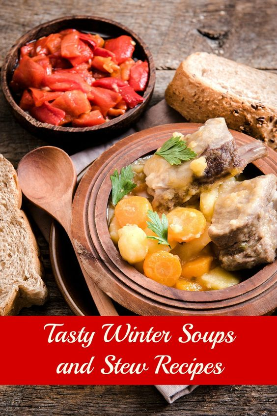 Soups and stews are perfect for the cold winter weather. Here are three tasty soup and stews recipes.  Hearty Vegetable Soup  Ingredients: 2 tablespoons of olive oil 4 carrots, sliced 1 onion, diced 2 garlic cloves, minced 2 pounds of butternut squash, peeled and cubed Salt and pepper to taste 1 quart of …