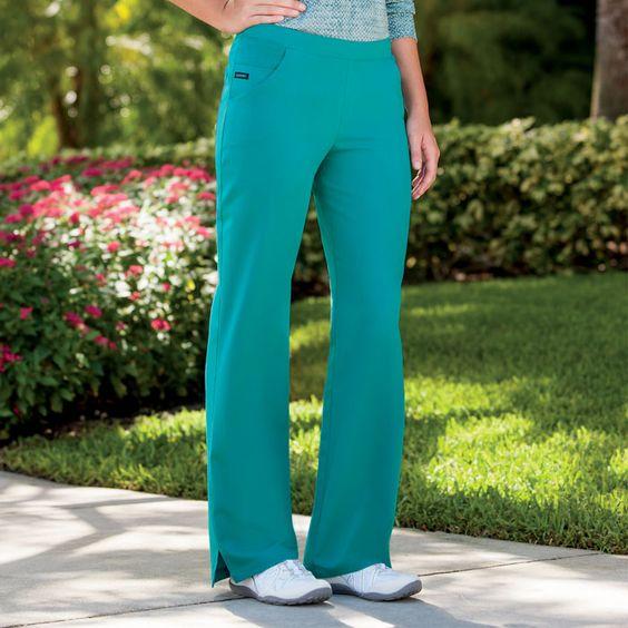 Jockey, 2286, Mid Waist Pant, Tri-Blend, 5 Pocket Smart Pant