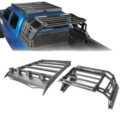 Toyota Tacoma Bed Rack For 2005 2019 Toyota Tacoma Hooke Road In 2020 Toyota Tacoma Tacoma Accessories Tacoma Truck