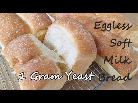 Eggless Soft Milk Bread With 1 Gram Yeast Resep Roti Lembut Wangi Hanya 1 Gram Ragi Tanpa Telur Youtube Bread Eggless Bread Recipe Poolish Recipe