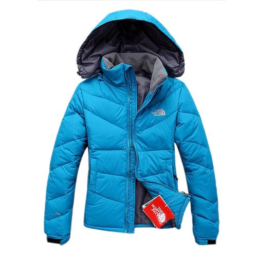 The North Face Winter Down Jacket Blue For Women Sale - Click