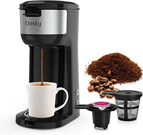 New Dnsly Coffee Maker Single Serve K Cup Pod Ground Coffee 2 1 Coffee Machine Strength Controlled Self Cleaning Function Advanced Black Online In 2020 Single Coffee Maker Coffee Maker K Cup