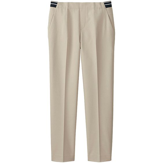 UNIQLO Cotton Feel Ankle Length Trousers (880 UAH) ❤ liked on Polyvore featuring pants and capris