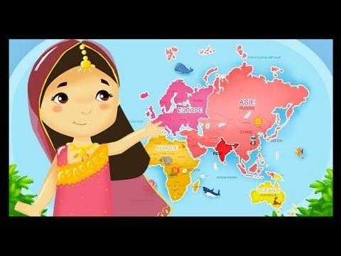 Monde des petits : Apprendre les pays du monde et leurs drapeaux