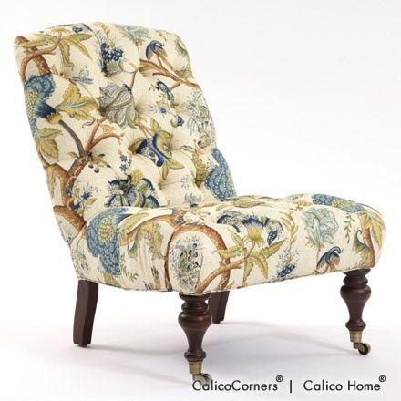 Adrian Chair in Darjeeling/Bluestone. Image: calicocorners.com.