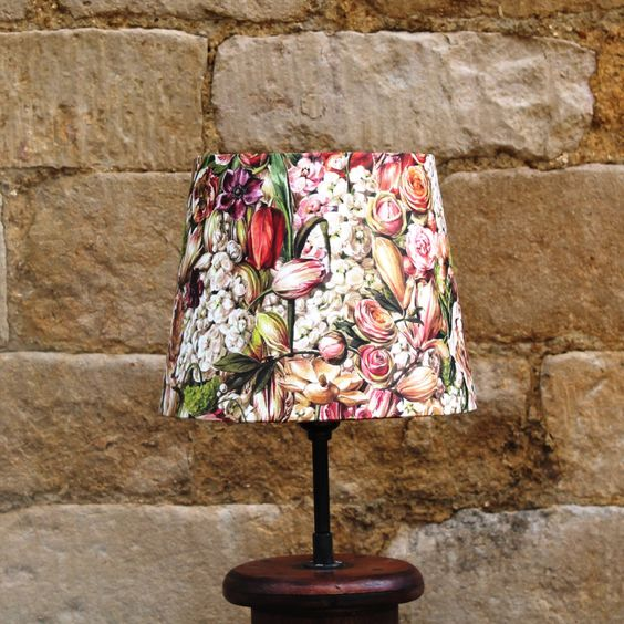 Spectacular Shade With Love from Amsterdam Tulip Floral French Tapered Light Shade www.serendipityhomeinteriors.com