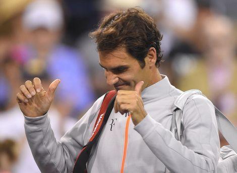 Roger Federer | Roger Federer bedankt het publiek. Foto: AP