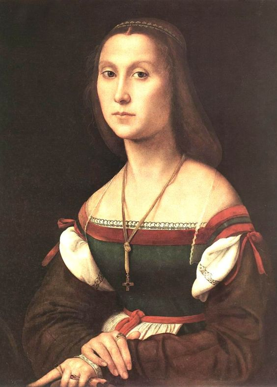 1505 Raphael Sanzio Portrait of a Young Woman - direct link from Pinterest