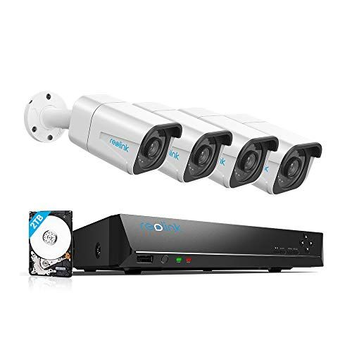 Reolink 4k Poe Security Camera System 4pcs Wired 8mp Outdoor Poe Ip Cameras H 265 8mp 8 Channel Nvr With 2tb Hdd Video Photomania Home Security Systems Security Cameras For Home Wireless