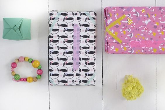 wrapping paper in 'black cats' & 'svampar'Tove Johansson