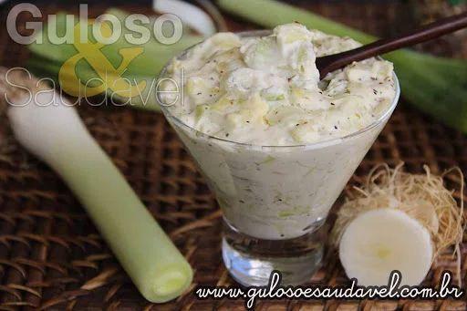 Foto: Utilizo este Creme de Alho Poró Light em peixes, massas, saladas até em sanduíches sempre ficam deliciosos!  #Receita aqui: http://www.gulosoesaudavel.com.br/2014/12/11/creme-alho-poro-light/