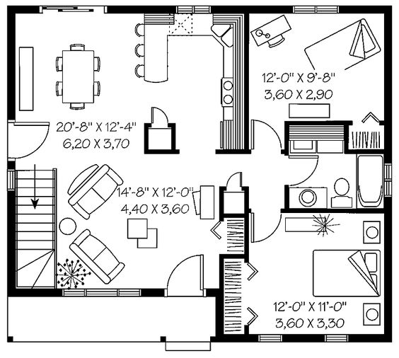 fabulous floor modern two bedroom house plans design ideas spacious two bedroom tiny house is fit for a small family