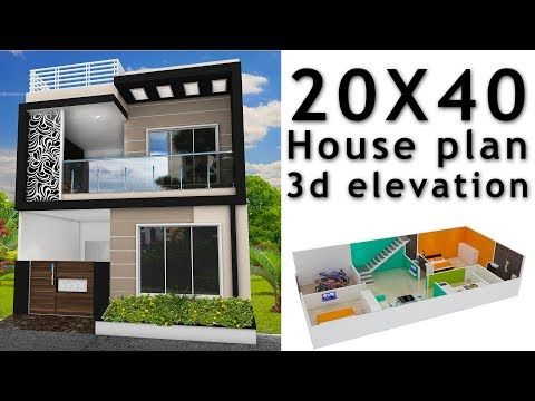 20x40 House Plan With 3d Elevation By Nikshail Youtube In 2020 20x40 House Plans Model House Plan 20x30 House Plans