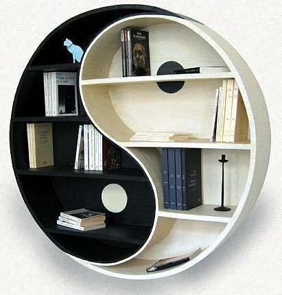 yin yang bookcase