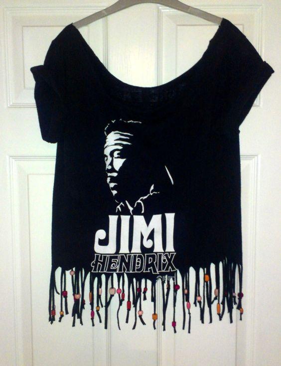 Fringed and beaded tshirt