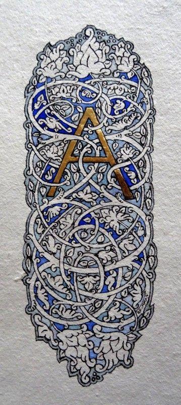 Anachropsy - Calligraphie latine par Benoit Furet - vigne bleue
