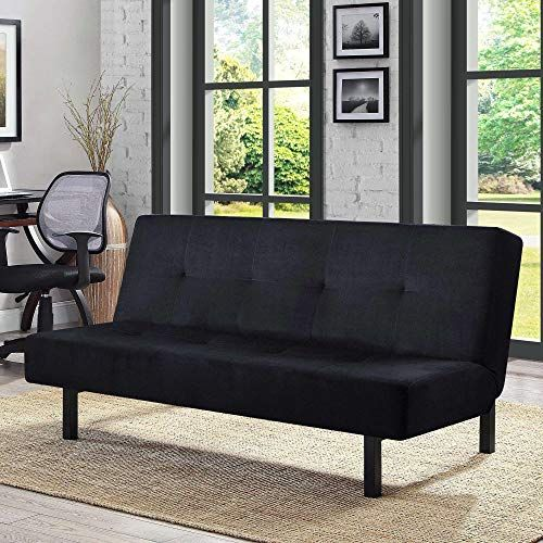 Beautiful Black Functional 3 Position Tufted Futon Padded Cushions Sturdy Square M In 2020 With Images Sofa Bed For Small Spaces Beds For Small Spaces Furniture For Small Spaces