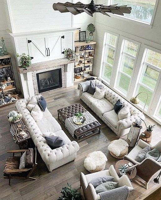 Regram Adriinteriors My Favourite Kind Of Layout By Concretecottage Via Thewelldressedhouse Interior Int In 2021 Open Living Room Design Large Living Room Layout Farm House Living Room