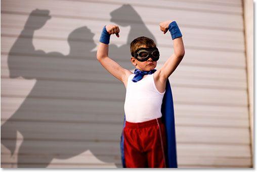 Create superhero shadow