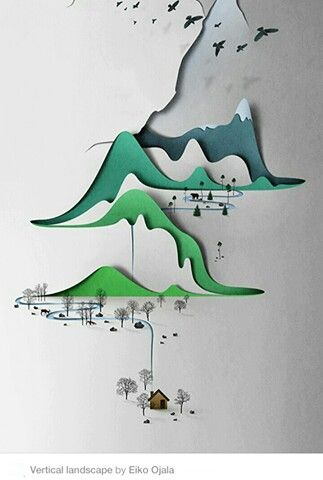 """Eiko Ojala's """"paper"""" landscapes are cool and paper-free"""