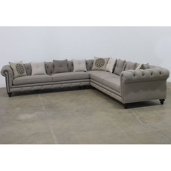 gray tufted nailhead sofa reproduction of the classic chesterfield style jar designs combines a chesterfield furniture history
