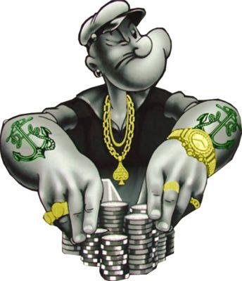 Gangster Cartoon Photos PSD Detail Popeye Gangsta Official PSDs Trapboy Bad Hatcher