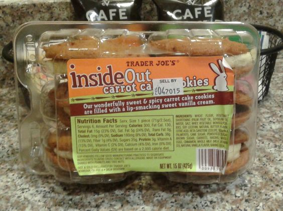 ... inside out carrot cakes carrot cake cookies trader joe s carrots cake