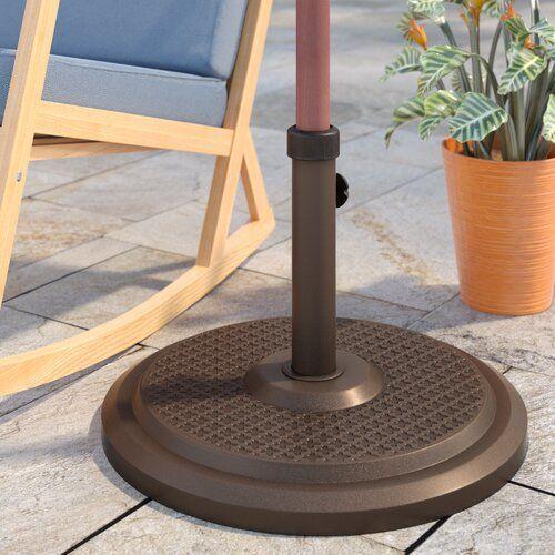 Kade Fiberstone Free Standing Umbrella Base In 2020 Umbrella Garden Patio Furniture Patio Umbrella Stand