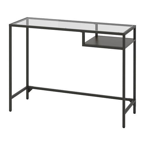 Vittsjo Laptop Table Black Brown Glass 39 3 8x14 1 8 Ikea Black Glass Desk Laptop Table Ikea
