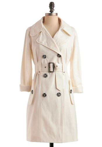 Switching Trains Coat in Ivory