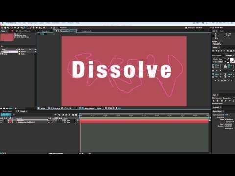 Mask Dissolve: Quick tip for a unique after effects dissolve