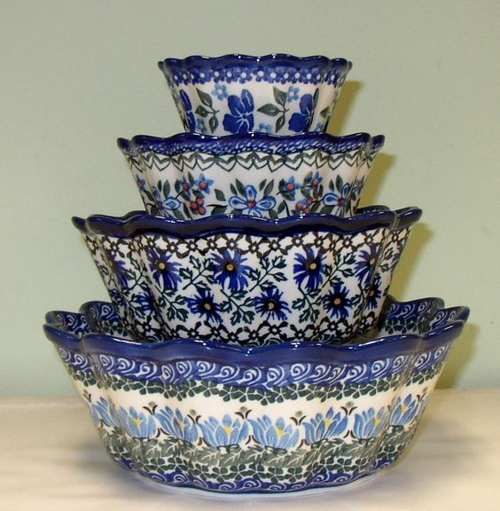 fluted bowls