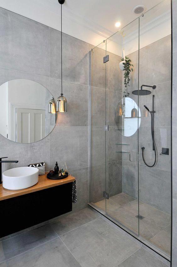 Beton Orza Gra 70x70 Cm Moderndesignbathrooms Newbathroom Moderne Bad Sma Bad Interior Bad