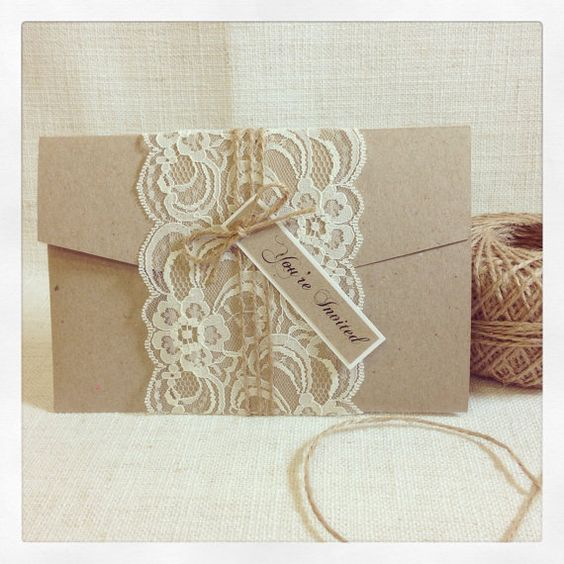 Hey, I found this really awesome Etsy listing at https://www.etsy.com/listing/209404733/wedding-invitation-rustic-lace