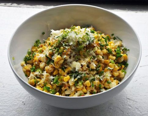 roasted corn with manchego & lime. | All my veggies | Pinterest ...