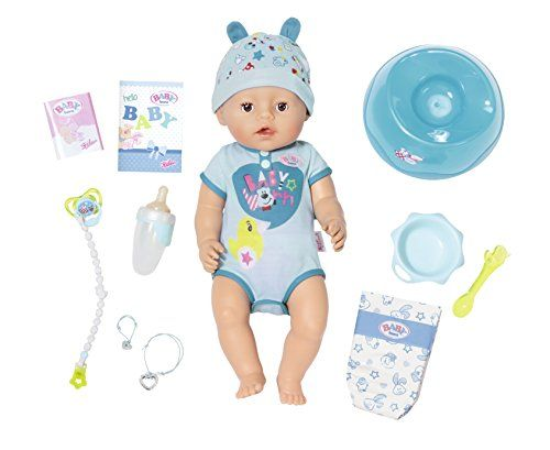 Baby Born 824375 Soft Touch Boy Interactive Function Doll Topstoys Baby Born Baby Dolls Boy Doll