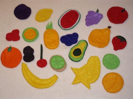 felt board fruit