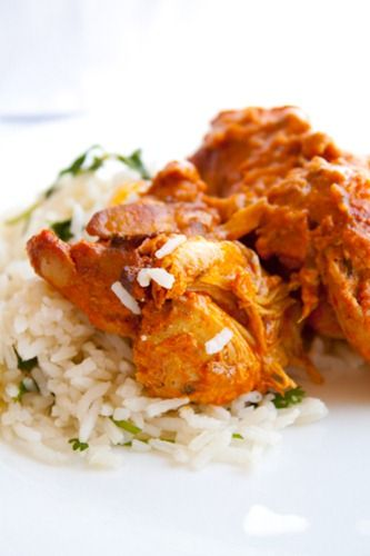 Indian Chicken served over rice or with naan
