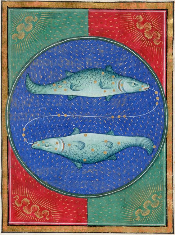 Pisces | Book of Hours | ca. 1473 | The Morgan Library & Museum: